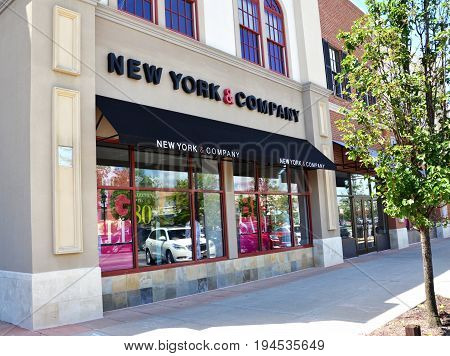PERRYSBURG OH - JUN 25: The New York & Company store in Perrysburg OH is shown here on June 25 2017.