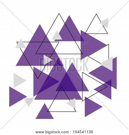 Abstract purple triangle banner background, stock vector