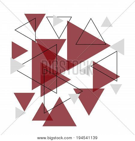 Abstract red triangle banner background, stock vector