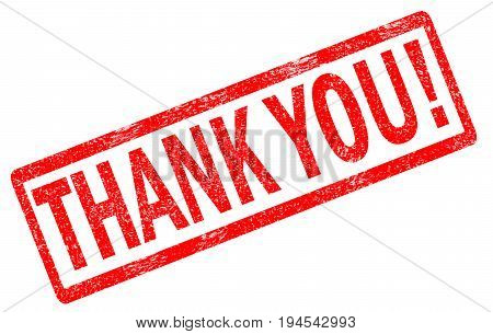 thank you red stamp text on white background. thank you stamp sign.