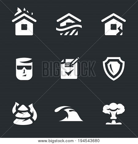 Fire, flood, earthquake, agent, contract, shield, burning forest, wave, nuclear explosion.
