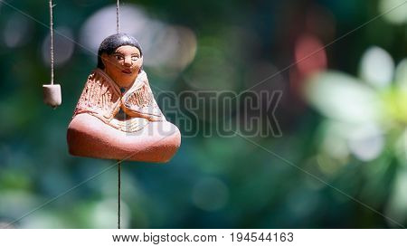 Spirtual Buddah Windchime Hanging from Ceiling Figurine