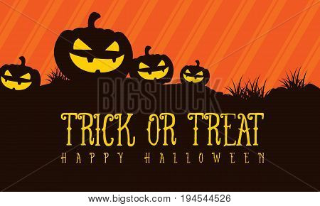 Trick or treat Halloween background vector illustration