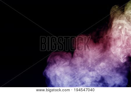 Smoke background / Smoke is a collection of airborne solid and liquid particulates and gases emitted when a material undergoes combustion