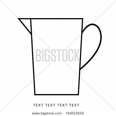 Vector water pitcher icon, coffee jug, container vector.
