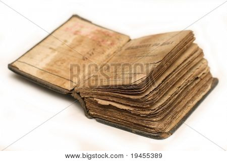 Old bible on white