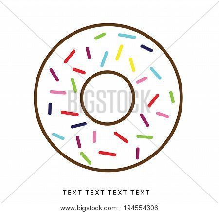 Vector icon donuts, snacks, instant breakfast, vector
