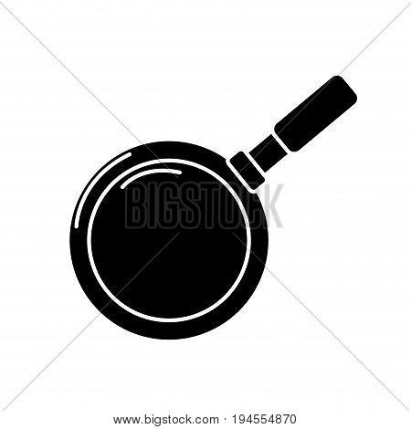 contour metalic skillet pan kitchen utensil vector illustration