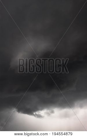 abstract background from moody sky and dark storm clouds. landscape view of the stormy sky thunderstorm