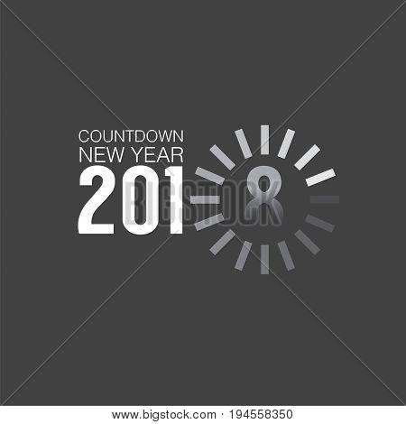 2018 Countdown Loading Vector Illustration. EPS 10