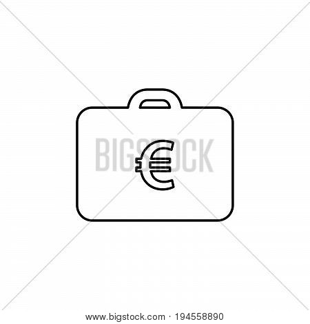 Money Case Icon Flat Style Simple Vector Illustration