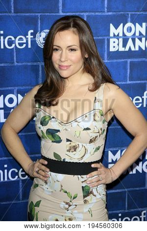 LOS ANGELES - FEB 23:  Alyssa Milano at the Pre-Oscar charity brunch by Montblanc & UNICEF at Hotel Bel-Air on February 23, 2013 in Los Angeles, CA