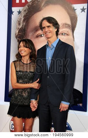 LOS ANGELES - AUG 2:  Susanna Hoffs, Jay Roach at the
