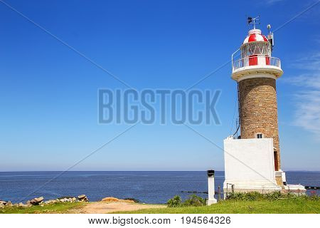 Punta Brava Lighthouse In Punta Carretas, Montevideo, Uruguay