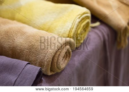Thai Handmade Cotton Unbleached Calico Clothes With Natural Coloring Non Chemical Fabric.