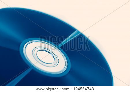 Compact Disc Of Audio Wave For Digital Sound Optical Storage Concept.