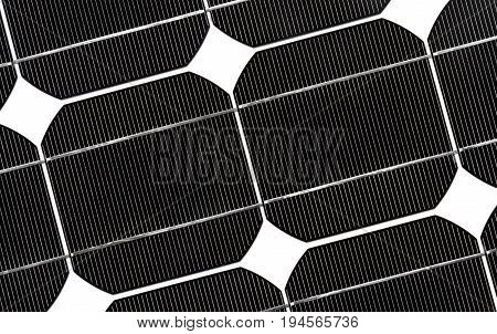 Photovoltaic panel for renewable electric production. Top view.