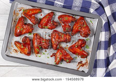 Roasted  In Oven Crispy Sticky Wings