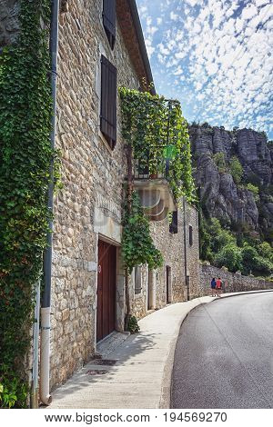 Impression of the village Vogue which is recognized as historical heritage and is considered one of ten charming villages of France