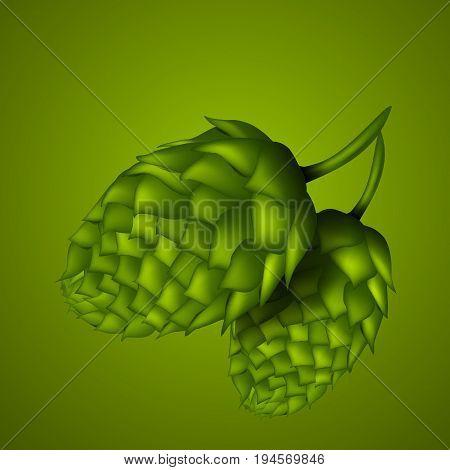 Hop for your design on green bg eps 10 vector