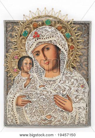 Madonna (Mary) of Jerusalem and child (Jesus Christ) icon