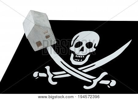 Small House On A Flag - Pirate