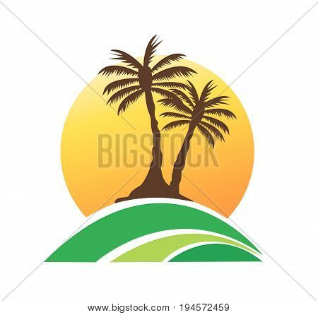 palm tree image vector illustration summer art