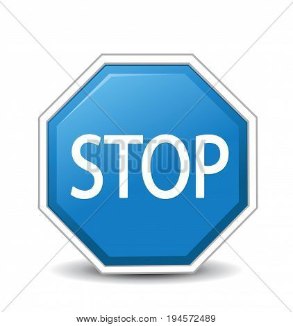 illustration of Stop sign on white background