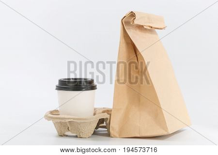 Containers For Fast Food And Beverages. Recyclable Materials
