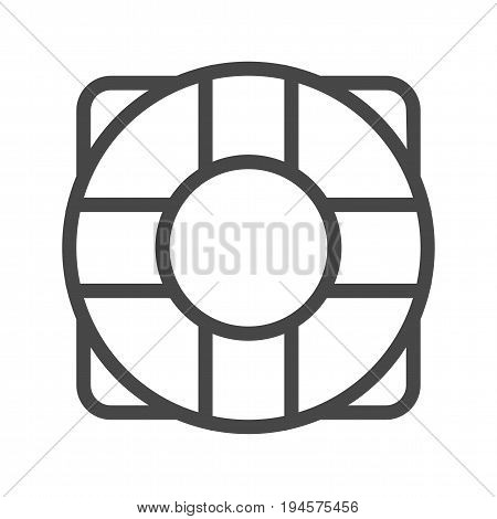 Lifebuoy Thin Line Vector Icon. Flat icon isolated on the white background. Editable EPS file. Vector illustration.