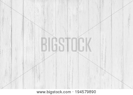 Abstract Rustic Surface White Wood Table Texture Background. Close Up Of Rustic Wall Made Of White W