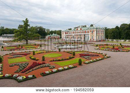 TALLINN ESTONIA- SEPTEMBER 7 2015: Kadriorg Palace at Kadriorg Park in Tallinn Estonia.
