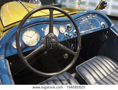 MUNICH GERMANY - JUNE 1 2012 :vintage car at the exposition of BMW Museum
