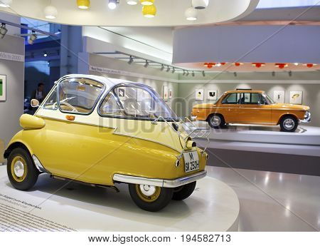 MUNICH GERMANY - JUNE 1 2012 :collection vintage car at the exposition of BMW Museum