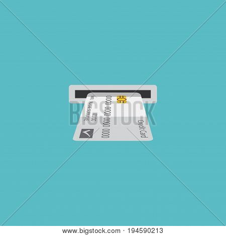 Flat Icon Atm Element. Vector Illustration Of Flat Icon Teller Machine Isolated On Clean Background. Can Be Used As Atm, Bank And Machine Symbols.