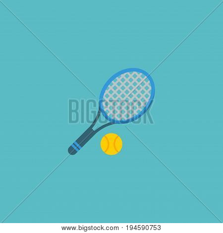 Flat Icon Tennis Element. Vector Illustration Of Flat Icon Rocket  Isolated On Clean Background. Can Be Used As Tennis, Ball And Rocket Symbols.