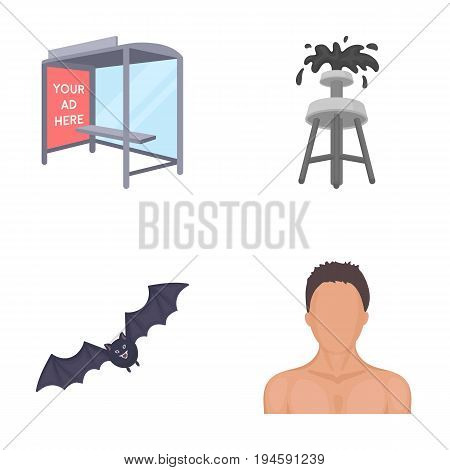 business, fauna, ecology and other  icon in cartoon style.naked, hair, shoulders, icons in set collection