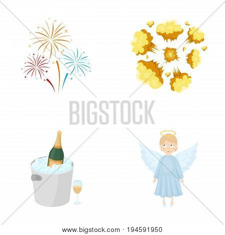 entertainment, business, ecology and other  icon in cartoon style.girl, toy, deity icons in set collection.