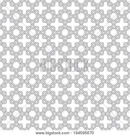 Vector seamless pattern. Simple elegant geometrical texture. Regularly repeatition outline circuit circles and crosses. Vector element of graphical design