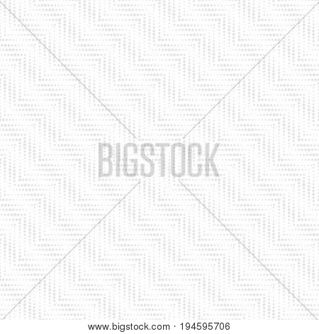 Vector seamless pattern. Modern stylish texture in the form of diagonal zigzags waves. Regularly repeating geometric small dotted shapes. Vector element of graphical design