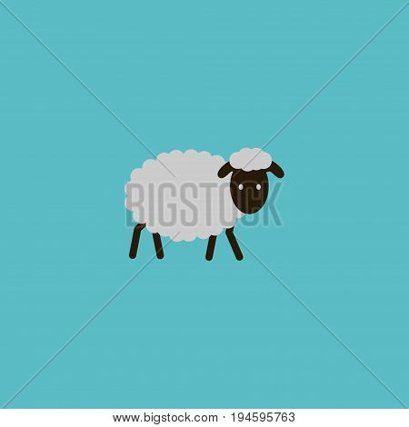 Flat Icon Sheep Element. Vector Illustration Of Flat Icon Mutton Isolated On Clean Background. Can Be Used As Mutton, Sheep And Merinos Symbols.