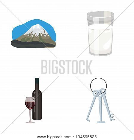 travel, alcohol and other  icon in cartoon style.robbery, food icons in set collection.