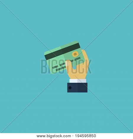 Flat Icon Credit Element. Vector Illustration Of Flat Icon Card Isolated On Clean Background. Can Be Used As Credit, Card And Payment Symbols.