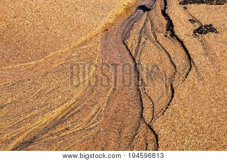 Patterns Textures And Ripples On Sandy Beach Shoreline