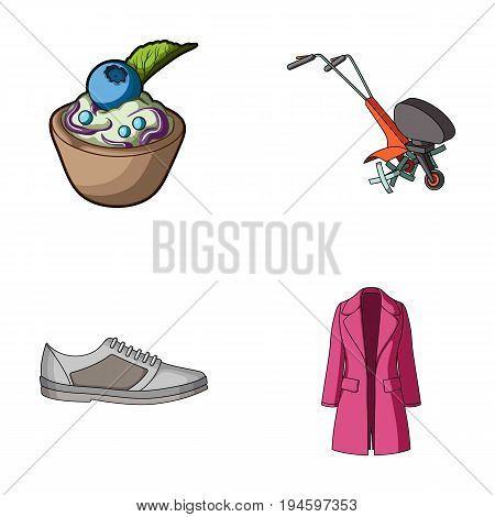 fashion, business, textiles and other  icon in cartoon style. wool, clothing, knitwear, icons in set collection