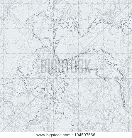 Abstract contour map with different relief. Topographic vector illustration for navigation. Map line navigation, topography geographic terrain map