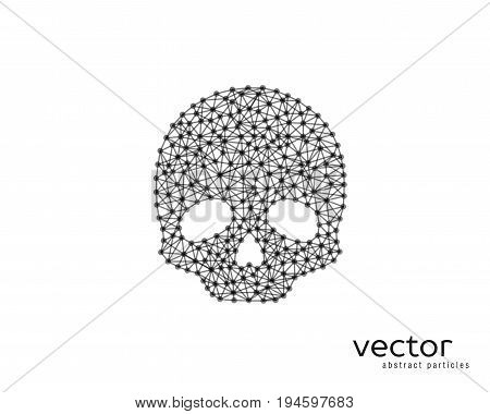 Abstract Vector Illustration Of Skull.