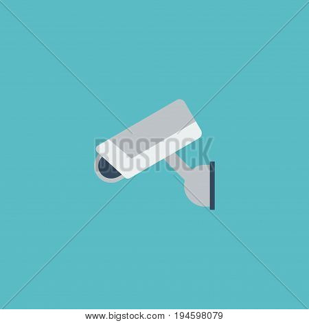 Flat Icon Supervision Element. Vector Illustration Of Flat Icon Camera  Isolated On Clean Background. Can Be Used As Camera, Security And Supervision Symbols.