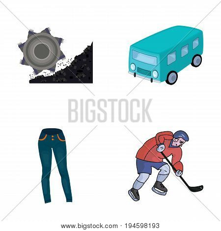 business, industry, textiles and other  icon in cartoon style.player, sportsman, sport, icons in set collection