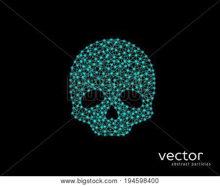 Abstract Vector Illustration Of Skull.